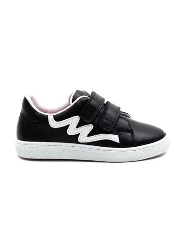 minipicco Minipicco Unısex  Deri Ortopedik Destekli Spor Ayakkabı Siyah